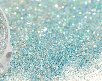 Laser holographic blue glitters