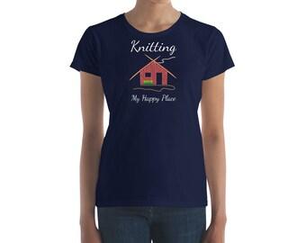 Gift for Mom Gift for Her - Knitter grandma gift funny tshirt gift for knitters Knitting shirt gift for grandma Women's short sleeve t-shirt