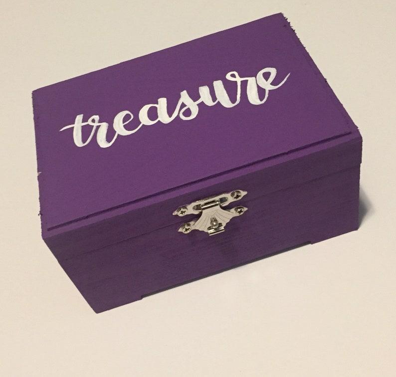 Treasure Box Hand Lettered Jewelry Box