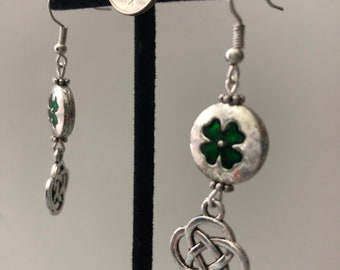 Clover and Celtic Knot Earrings