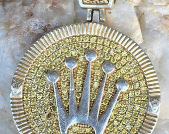 ace149ada8c49 Excellent sterling silver hip hop crown medallion
