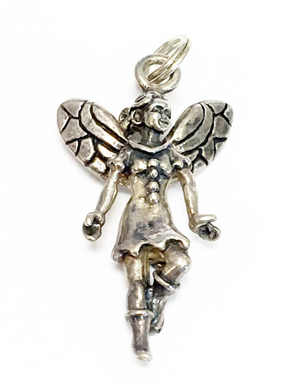 10pcs Antique Silver Fairy Charm 25x15mm..