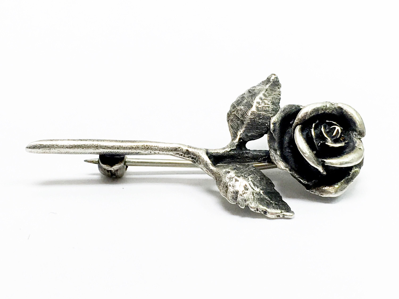 cbd70b2e495 Retired James Avery Sterling Silver Rose Pin/Brooch