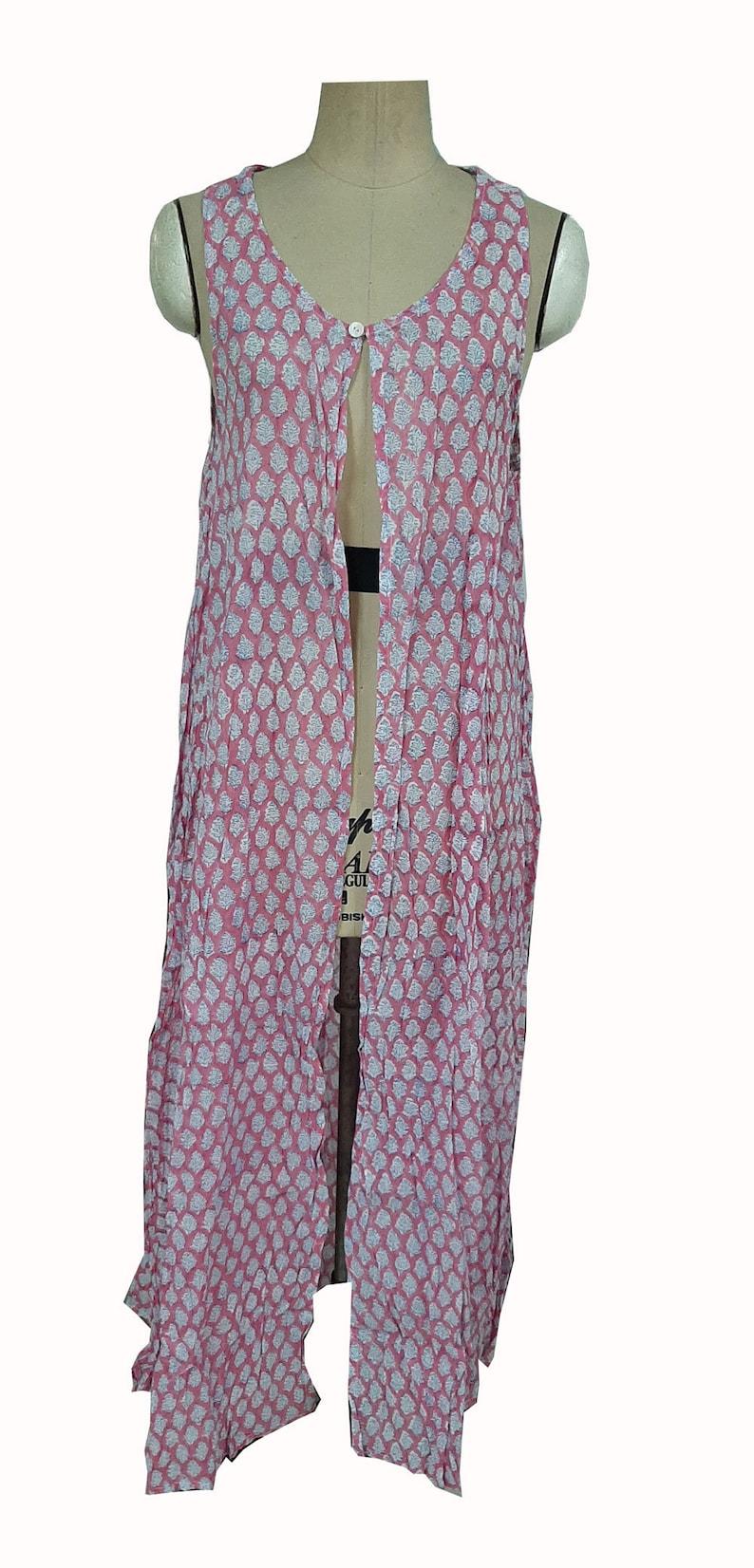 Dressing Gown kaftan dress 100/% Cotton dress Bridesmaid Gifts Cotton Kimono Robes Beach Cover ups kimono dress Block print kimono