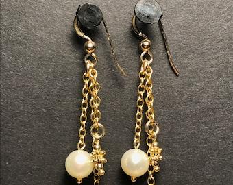 Pearl and Vermeil Earrings