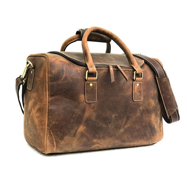 4710c55d67e7 17 Inch Leather Travel Bag Mens Portfolio Bag Leather Laptop