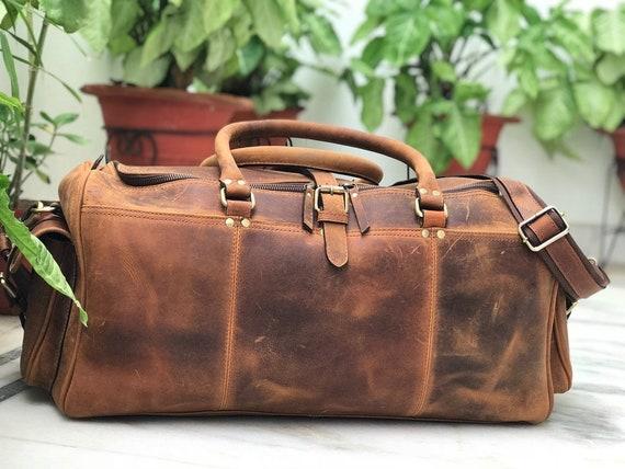 Zakara Genuine Hunter Classic Leather Weekend Bag Christmas   Etsy 193ea3f505