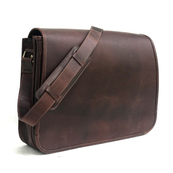 2f1875f9a9 Zakara Genine Dark Brown Handmade Leather Bag Crossbody