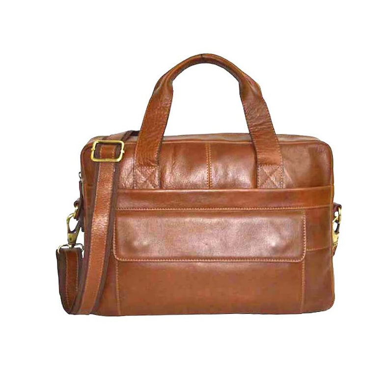 f158279f87 Zakara Genuine Leather Laptop Bag 15 Inches Laptop Bag Soft