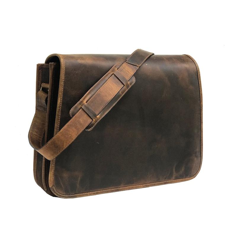 DDKK bags Mens Genuine Brown Leather Bag Messenger Bag Canvas Shoulder Bags Travel Bag Man Purse Crossbody Bags for Work Business