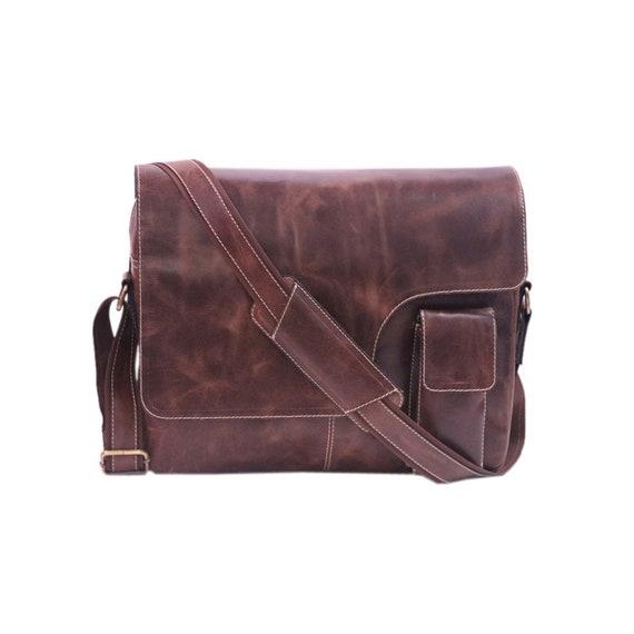 09334105e9 Zakara Dark Brown Hunter Buffalo Leather Portfolio Bag
