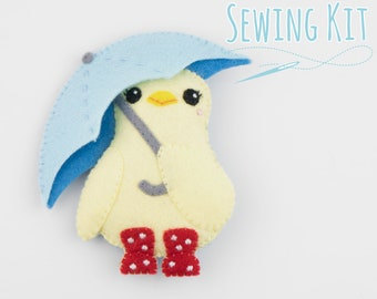 Cute Felt Duckling - Complete Sewing Kit