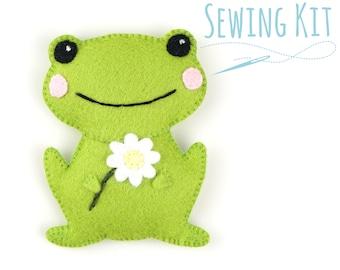 Cute Felt Frog - Complete Sewing Kit