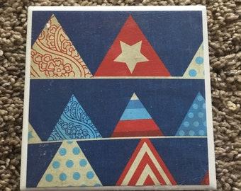 Patriotic Tile Coasters