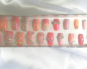 Pink Is A Girl's Best Friend! Press On Nails