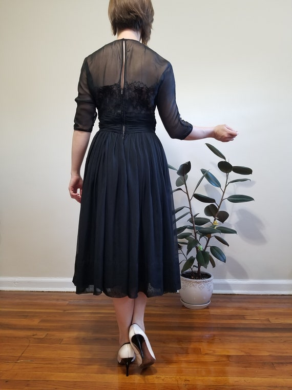 Black Fit and Flare Dress - image 3