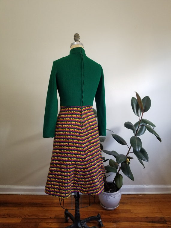 S| Green Colorful Sweater Dress Combo - image 7
