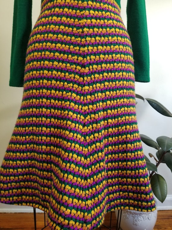S| Green Colorful Sweater Dress Combo - image 8