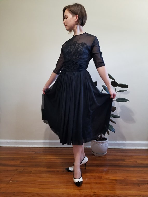 Black Fit and Flare Dress - image 4