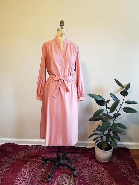 70s Dusty Rose Dress