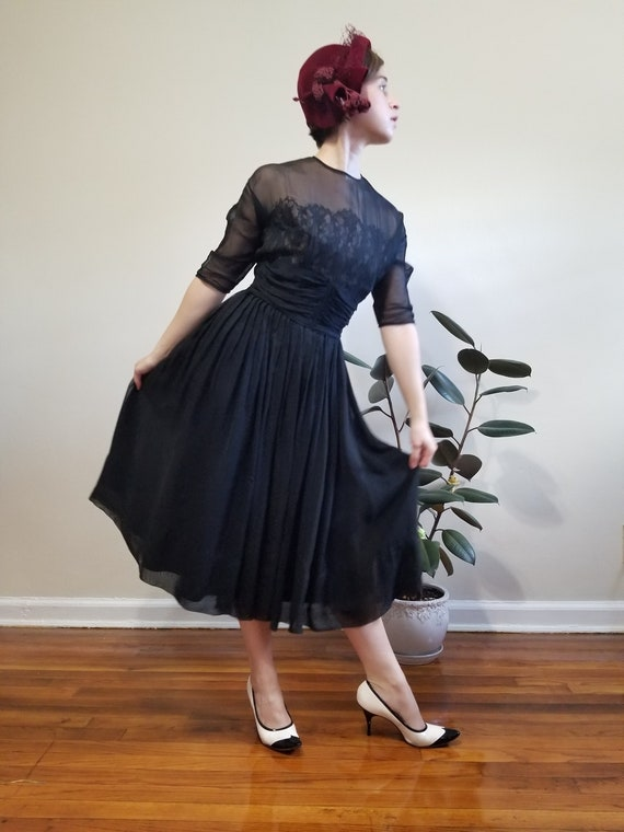 Black Fit and Flare Dress - image 2