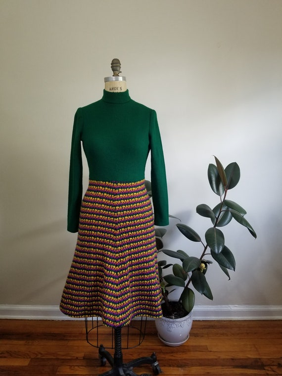S| Green Colorful Sweater Dress Combo - image 5