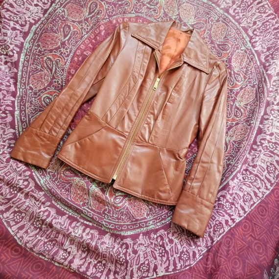 70s Rust Leather Jacket