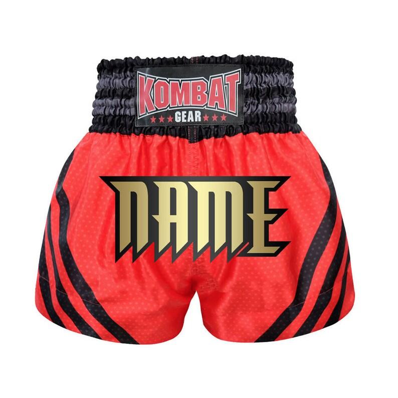 Muay Thai Shorts Boxing Fighting Trunks Kick Boxer Satin Martial Arts S M L 3XL