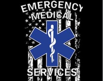 Emergency Medical Services (EMS) Flag Shirt