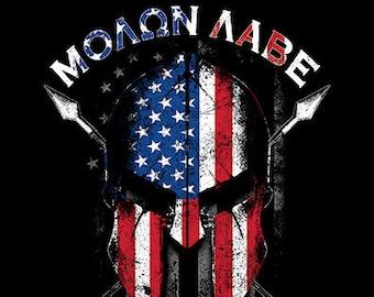 Molon Labe (Come And Take Them) Spartan Flag Shirt