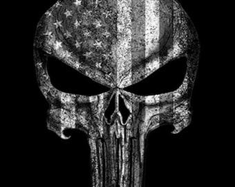 American Flag Skull Punisher Shirt
