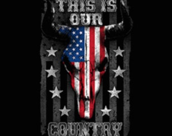 This Is Our Country Flag Skull Shirt