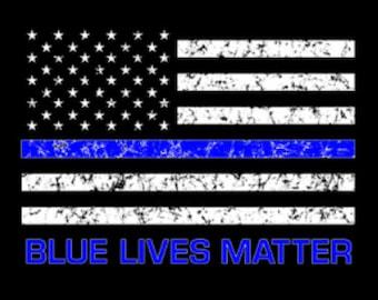 Blue Lives Matter Flag Shirt