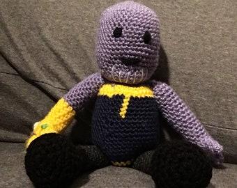Handmade Crocheted Thanos with Infinity Gauntlet - Infinity War