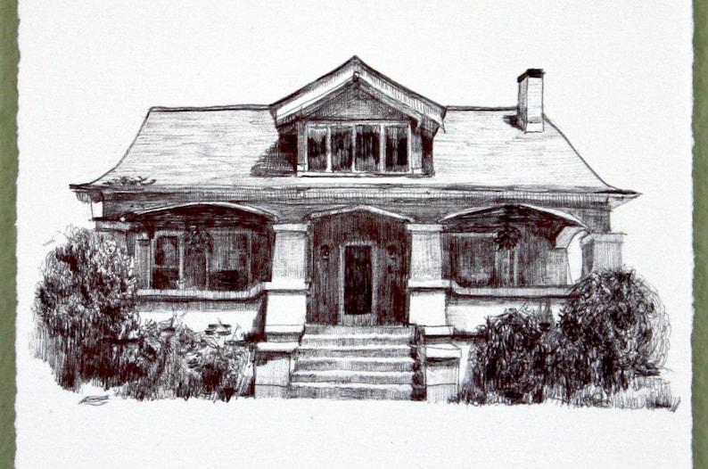 Home Portrait Custom House Portrait Hand Drawn House Portrait Minimalist Gift Custom Anniversary Present Housewarming Gift