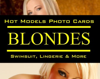 Hot Blonde Models and Swimsuit Babes - Photo Trading Cards Set
