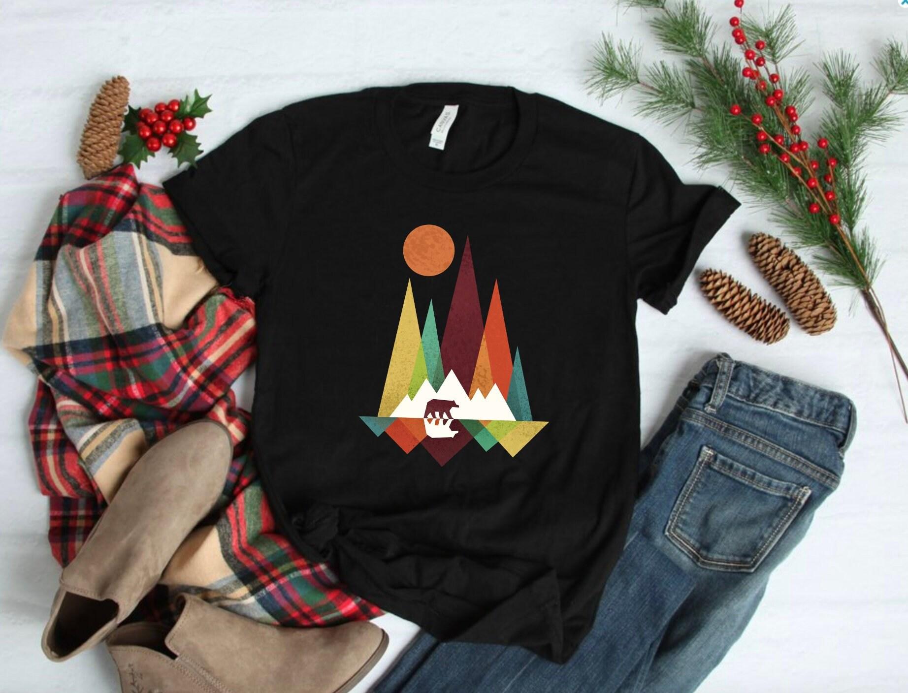 Ours en lunatique sauvages Art Print, lunatique Animal Design minimaliste, minimaliste, Design manches courtes T-Shirt unisexe, taille XL 240824