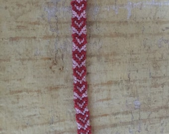 Handmade heart patterned friendship bracelet