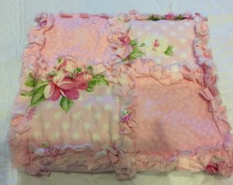 Baby Pink Patchwork Rag Quilt
