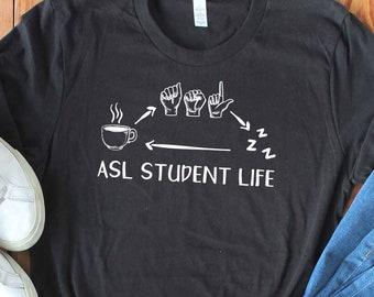 9032ffcccb Unisex Funny ASL Shirt - American Sign Language Shirt