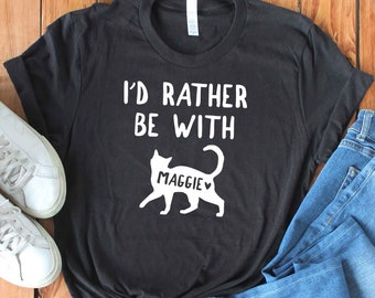 20fa32ea5 Unisex Personalized Cat Shirt - Custom Cat Shirt - Funny Cat Shirt - Gift
