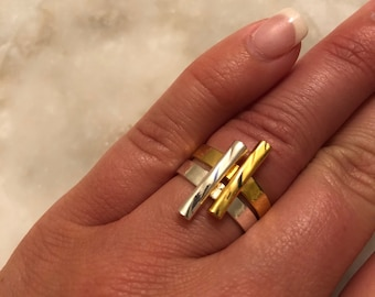 Gold & Silver Stackable Rings