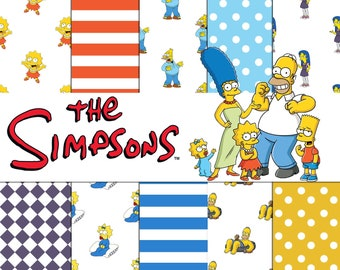 THE simpsons, Clipart, clip Art, Cliparts clip Arts, Digital Papers-Scrapbook-paper Pack, Printables-Instant