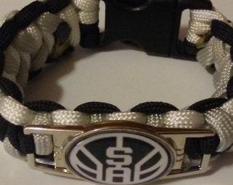 SA SPURS Basketball Themed Paracord Bracelet