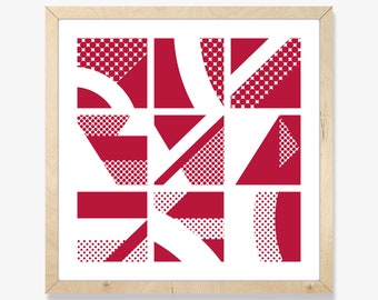 Nine tiles – Screen print