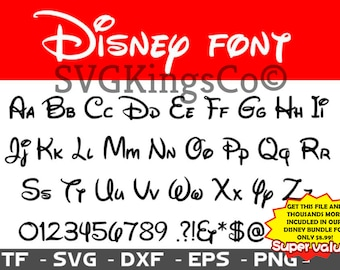 Disney Font Svg Walt Alphabet Calligraphy Cursive Dxf Files