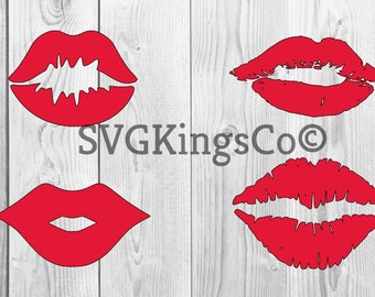 Lips svg - Make Your Own Print Cut Crafts, Shirts, Invitations Cards, Wall Art, Vinyl Decals, Lips Set svg