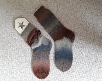 Hand-knitted socks - UK5-6