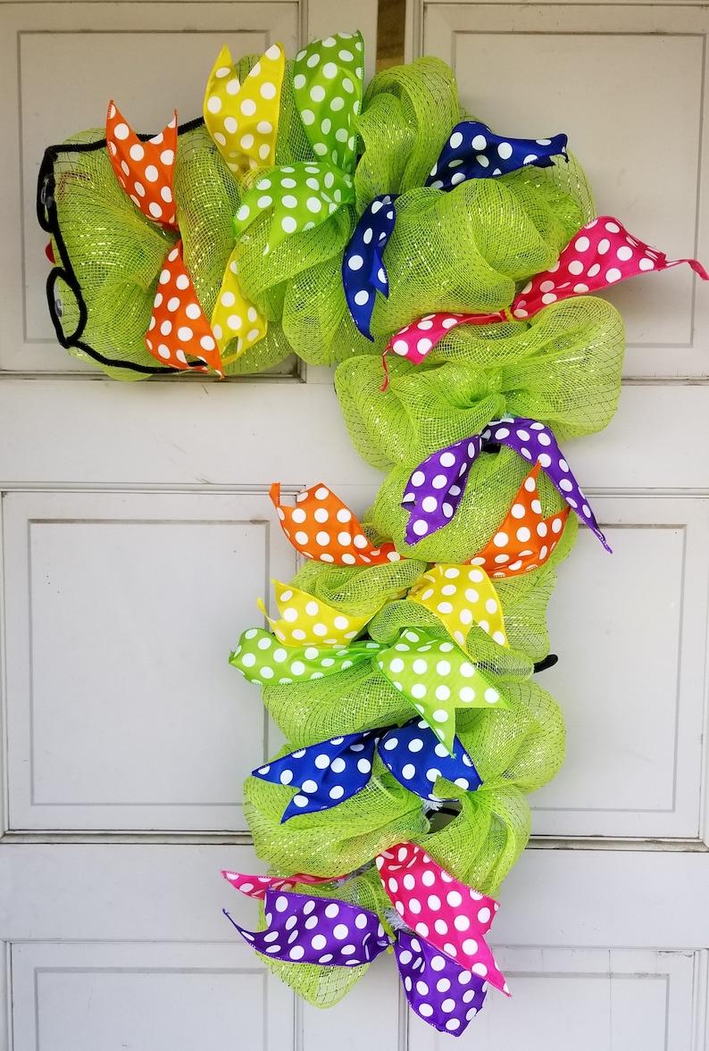 Teacher/'s Wreath Bookworm Wreath Gift for Teacher Back to School Caterpillar Wreath
