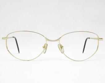 Vintage glasses Koberg & Tente Aquamarine, mod. 114.108, eyewear frame from the 80s, gift for women, glasses gold ladies 80s, glasses